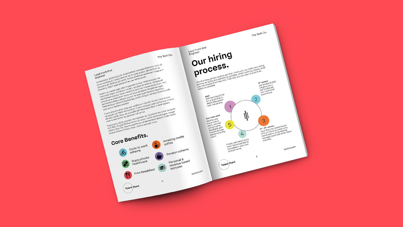 Talent Point Campaign Brief mockup