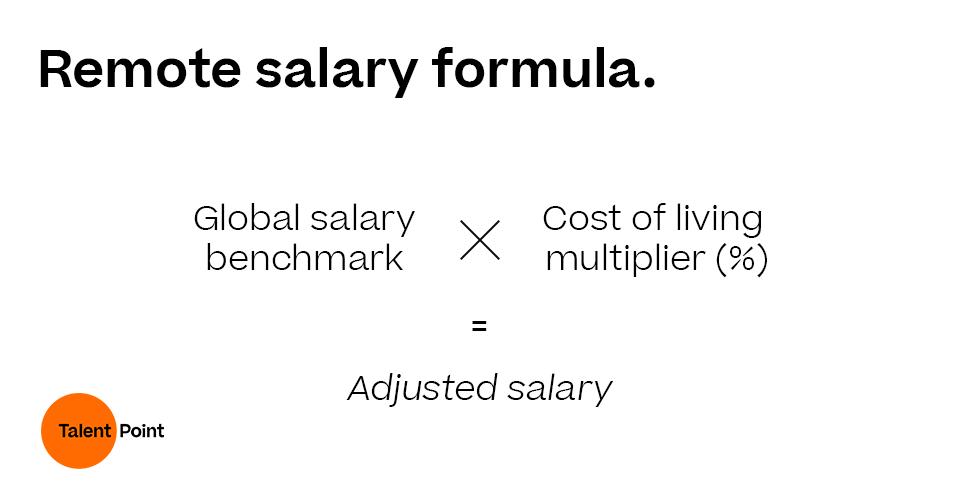 Remote salary formula calculation