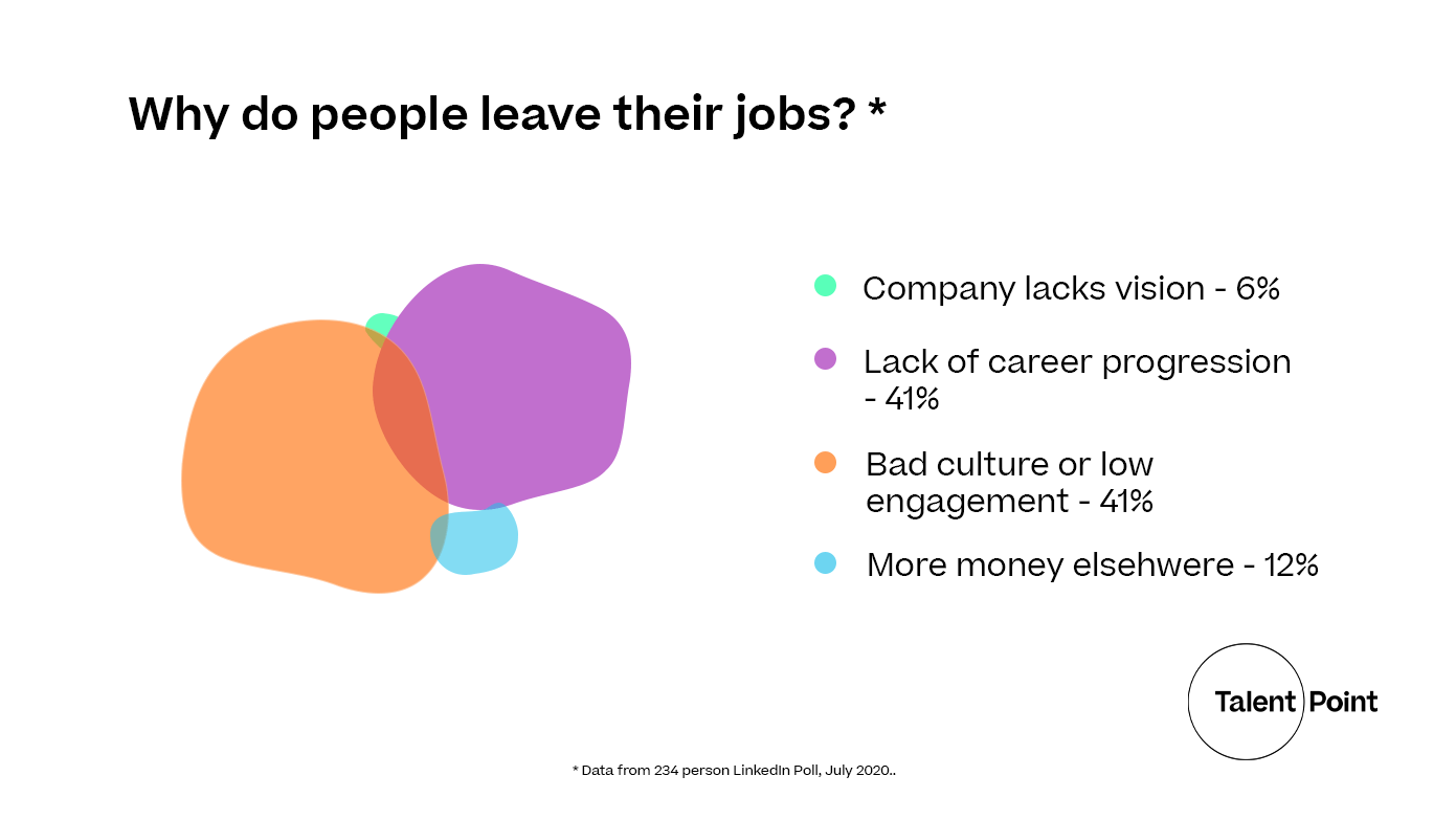 why-do-people-leave-their-jobs-linkedin poll data visualisation 2020